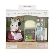 Epoch Sylvanian Families Sylvanian Family Doll set chocolat rabbit Mother furniture set DF-08
