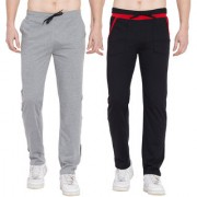 Cliths Sport Active Wear For Men- Trackpants Lower For Men Casual Stylish Pack Of 2 (Black Grey Red Black)