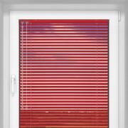 Livani Veneciana de Aluminio 25mm, A Medida, STANDARD, Rojo