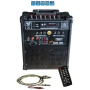 Medha PJ Plus Portable Rechargeable PA Amplifier Cube-28 with Speaker Digital Media Player