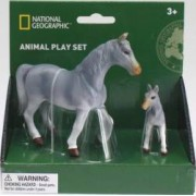 Set 2 figurine National Geographic Cal gri si manz
