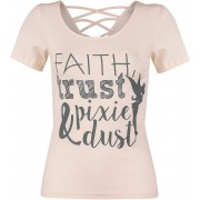 Peter Pan Tinker Bell - Faith, Trust & Piixe Dust Girls shirt abrikoos