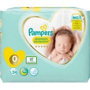 Pampers Premium Protection Luiers - Maat 0 (<3kg) - 24 stuks
