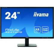 "IIYAMA ProLite X2474HS-B1 - Monitor LED - 24"" (23.6"" visível) - 1920 x 1080 Full HD (1080p) - VA - 250 cd/m² - 3000:1 - 4 ms -"