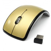 Outre 2.4Ghz Folding ARC Wireless Optical Mouse Gold