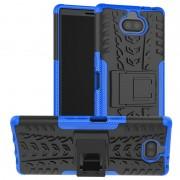 Capa Híbrida Antiderrapante para Sony Xperia 10 Plus - Azul / Preto