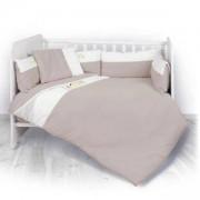 Спален комплект от 6 части за бебешка кошара Lorelli Za Za, Бежово, 0746847