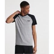 Superdry Kurzarm-Baseball-T-Shirt aus der Orange Label Kollektion 4XL grau