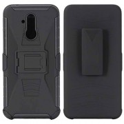 """SsHhUu Funda Huawei Mate 20 Lite, Hybrid Heavy Duty Choques Doble Capa Rugged Duro PC+Suave Rubber Silicona with Protector Armor Belt Clip Case Cover para Huawei Mate 20 Lite 2018 (6.3"""") Negro"""