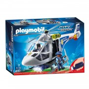 Playmobil police helicopter with LED search light