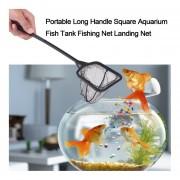 Mango Largo Plaza Portátil Aquarium Fish Tank Red De Pesca Landing Net