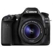 Canon SLR EOS 77D Fotocamera Digitale, Obiettivo EF-S 18-55 mm f/4-5.6 IS STM, Versione Standard, Nero