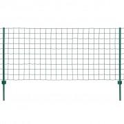 vidaXL Set de gard Euro, 20 x 1,5 m, oțel, verde