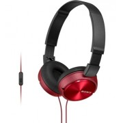 HEADPHONES, SONY MDR-ZX310AP, Microphone, Red (MDRZX310APR.CE7)