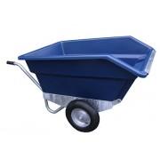 Tweewielige kiepkruiwagen 400 ltr, BLAUW