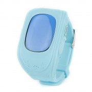 Q50 0.96inch OLED Screen Child GPS Tracker SOS Smart Monitoring Positioning Phone Kids GPS Baby Watch Anti Lost - Baby Blue