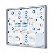Jansen Display Interiérová vitrína 15xA4, posuvné dveře, metalová záda