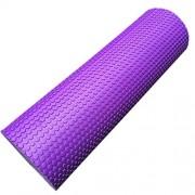 Foam Yoga Roller by Vibola 45/15cm Physio EVA Trigger Point Gym Sports Massage Back Exercise Home Massage (Purple)