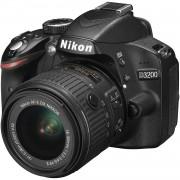Nikon Cámara Reflex Nikon D3200 Negro + lente AF-S DX NIKKON 18-55 mm