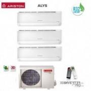 Ariston CLIMATIZZATORE CONDIZIONATORE TRIAL 9+12+12 INVERTER ARISTON ALYS PLUS R32 9000+12000+12000 BTU CON TRIAL 80 XD0C-O GAS R32