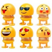Creative Cartoon Smiley Spring Shaking Head Toy(Pack of 6)