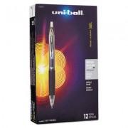 Signo 207 Roller Ball Retractable Gel Pen, Black Ink, Medium, Dozen