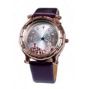 Часовник с черна лачена каишка