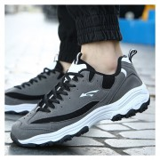 Zapatos Para Correr Los Hombres Calzado Tenis Deportivos Respirable Zapatillas -Gris