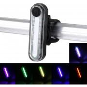 Impermeable USB Recargable 6 Modos Multi - Color De La MAZORCA LED Bicicleta Luz Trasera Luz 100lm Ciclismo Bicicleta Luz Trasera Con Clip