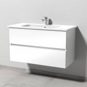 Sanipa Solo One Euphoria Waschtisch-Set 1000mm, weiss glanz PS022-78