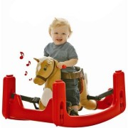 Rocking Ride Blue Castle Grow with Me Pony Ride-On, Rocker, Bouncer Convertible to Spring Horse