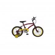 Bicicleta Rodado 16 Inflable De Varon Con Rueditas De Apoyo-Azul