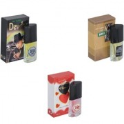 Skyedventures Set of 3 Devdas-The Boss-Younge Heart Red Perfume