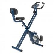 Klarfit Azura CF Vélo d'appartement en X de 3 kg charge 100 kg max pulsomètre – bleu