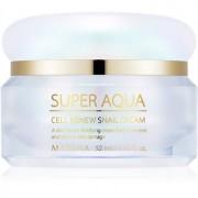 Missha Super Aqua Cell Renew Snail crema reafirmante de día para el contorno del rostro con extracto de baba de caracol 52 ml