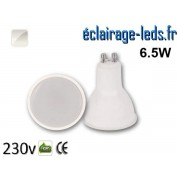 Ampoule LED GU10 translucide 6.5w blanc naturel 230v