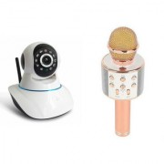 Zemini Wifi CCTV Camera and WS 858 Microphone Karake With Bluetooth Speaker for SAMSUNG GALAXY NOTE 5(Wifi CCTV Camera with night vision |WS 858 Microphone Karake With Bluetooth Speaker)