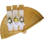 Gold Decorated Wedding Fan