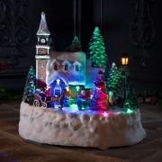 Battery-operated LED scene House - animated
