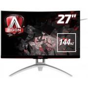 "Monitor Gaming MVA LED AOC AGON 27"" AG272FCX, Full HD (1920 x 1080), VGA, HDMI, DisplayPort, Ecran Curbat, Boxe, 144 Hz, 4 ms (Negru/Argintiu)"