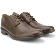 Clarks Becken Plain Tan Leather Formals For Men(Tan)