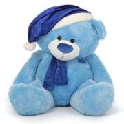Blue 5 Feet Special Christmas Teddy Bear with muffler
