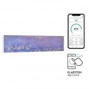 Klarstein Wonderwall Air Art Smart, инфрачервен нагревател, 120 х 30 см, 350 W, приложение, водна лилия (HTR10-WdwlS350wWtrLy)