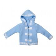 Baby Nellys Dvouvrstvá kojenecká bundička, svetřík - modrý, vel. 80