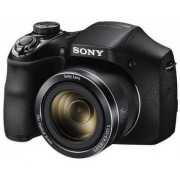 Aparat Foto Digital Sony DSC-H300, 20.1MP + Card 8GB + incarcator cu 4 x acumulatori R6 (Negru)