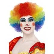 Peruca petrecere afro clown multicolora