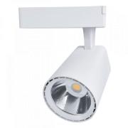 Sínes LED lámpa , track light , 1 fázisú , 2 pólusú , 20 Watt , 36° , természetes fehér , fehér , Elmark