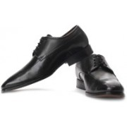 Clarks Dexie Over Genuine Leather Lace Up Shoes For Men(Black)