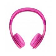 Astrum HS160 3,5MM gyerek (max 85dB) fejhallgató erősített kábellel, jack elosztós csatlakozóval pink