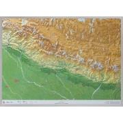 Wandkaart Nepal 3D met reliëf   Geo Relief